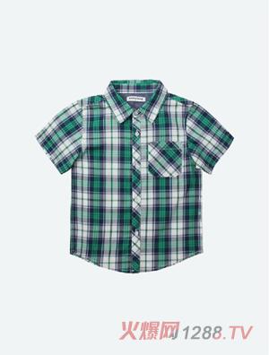 加比瑞男童短袖衬衫