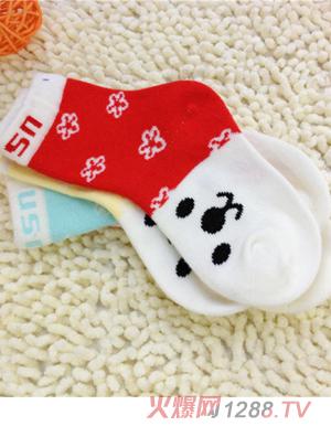 童尚春秋款兔宝宝袜