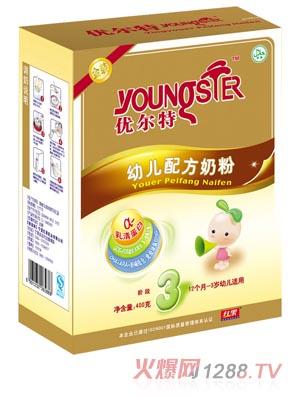 红果优尔特金装幼儿配方奶粉3段盒装