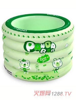 欧培优敏绿色小熊圆形充气婴儿游泳池