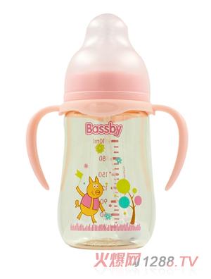 贝斯比小宽口异形PPSU奶瓶230ml红色