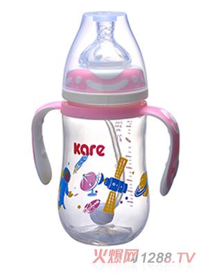 可儿170ml葫芦形手把吸管奶瓶