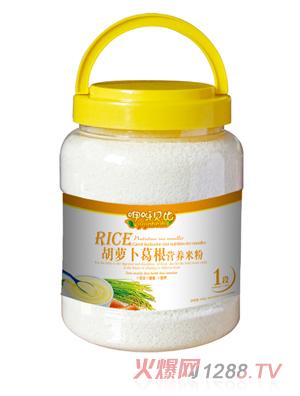 咿呀贝比胡萝卜葛根营养米粉1段