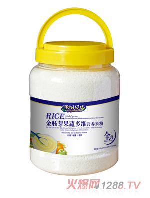 咿呀贝比金胚芽果蔬多维营养米粉
