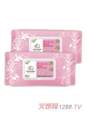 香港妈咪宝贝婴儿手口洁肤湿巾80片
