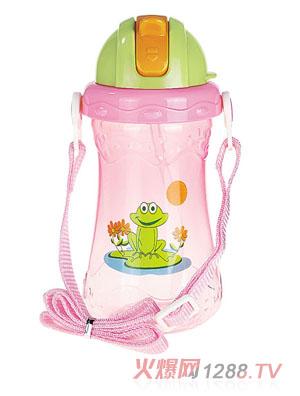 贝乐嘉粉色小青蛙可爱儿童水壶