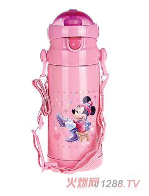 贝乐嘉粉色米老鼠实用型卡通保温水壶