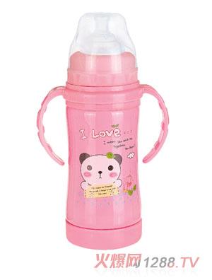 贝乐嘉粉色实用型卡通保温水壶