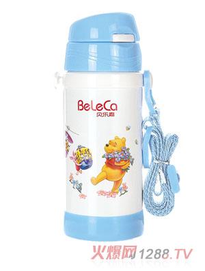 贝乐嘉蓝色卡通保温环保水壶