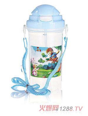 贝乐嘉蓝色卡通水壶