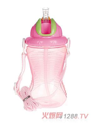 贝乐嘉粉色婴儿可爱水壶