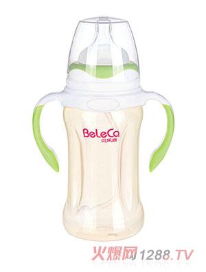 贝乐嘉浅绿色双柄全自动婴儿PP奶瓶