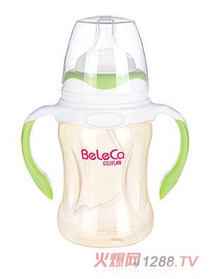 贝乐嘉草青色双柄婴儿PP奶瓶