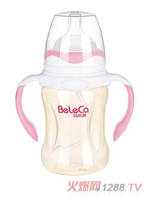 贝乐嘉粉色双柄全自动PP奶瓶