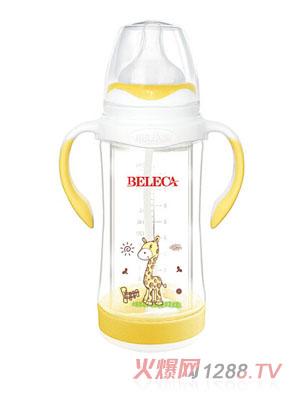贝乐嘉贴花婴儿奶瓶黄色