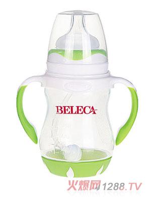 贝乐嘉绿色标口婴儿弧形奶瓶