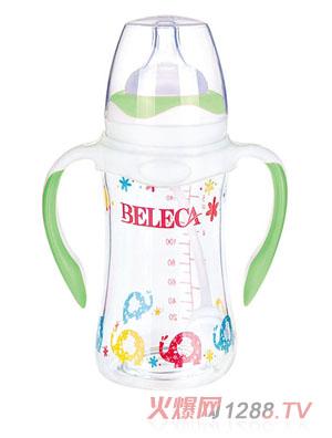 贝乐嘉双柄防摔防爆晶钻玻璃奶瓶