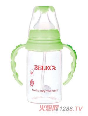 贝乐嘉绿色双柄全自动婴儿双层防爆奶瓶