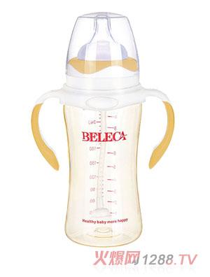 贝乐嘉黄白两色婴儿全自动奶瓶300ml