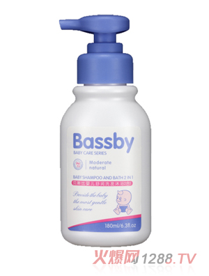 贝斯比婴儿舒润洗发沐浴2合1(BSH105)180ml