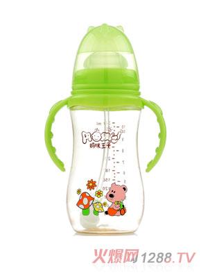 妈咪王子PPSU宽口自动吸300ml弧形奶瓶