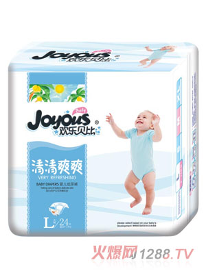 欢乐贝比清清爽爽婴儿纸尿裤L24片