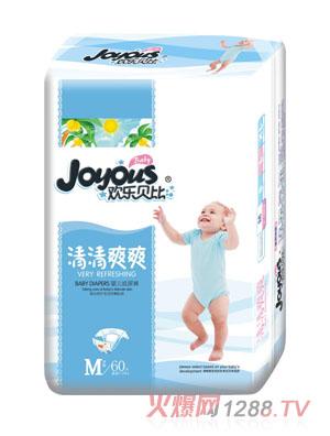 欢乐贝比清清爽爽婴儿纸尿裤M60片