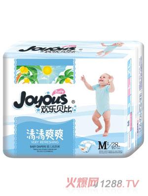 欢乐贝比清清爽爽婴儿纸尿裤M28片