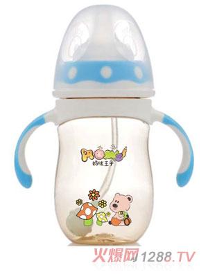 妈咪王子PPSU宽口自动吸210ml企鹅奶瓶