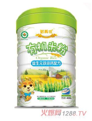 智美优益生元铁锌钙有机米粉
