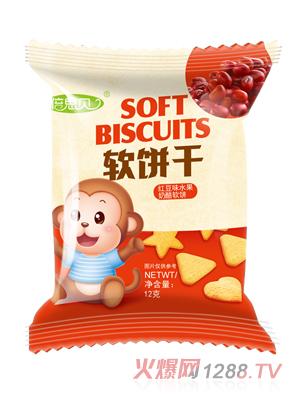 倍思贝红豆味水果奶酪软饼干12克