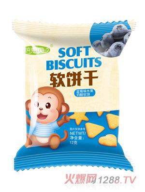 倍思贝蓝莓味水果奶酪软饼干12克