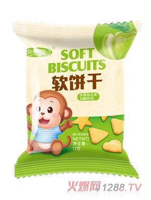 倍思贝苹果味水果奶酪软饼干12克