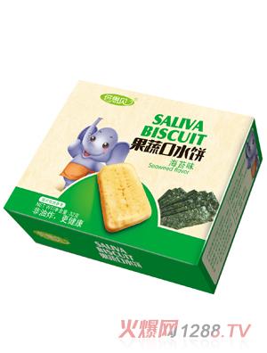 倍思贝海苔味果蔬口水饼32克方盒
