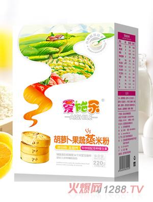爱施乐胡萝卜果蔬蒸米粉220g