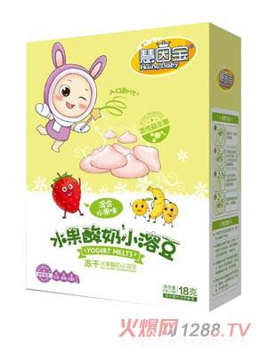 慧因宝混合水果味水果酸奶小溶豆