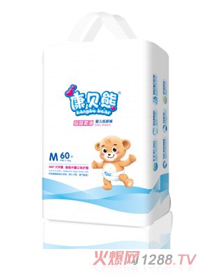 康贝熊瞬吸柔薄纸尿裤m码60片