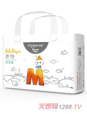 初爱超薄大环腰纸尿裤M34片