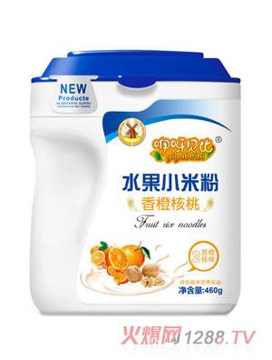咿呀贝比香橙核桃水果小米粉2段460g