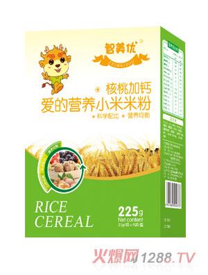 智美优核桃加钙爱的营养小米米粉