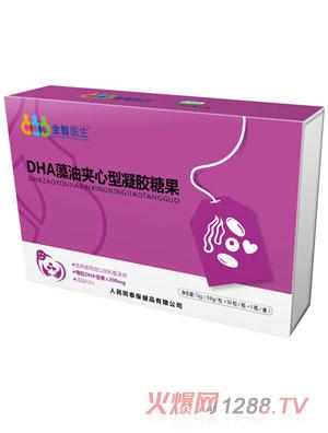 全智医生DHA藻油夹心型凝胶糖果72g