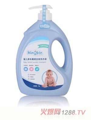今品堂婴儿草本柔顺全效洗衣液1kg