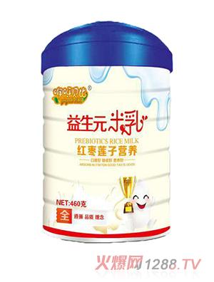 咿呀贝比红枣莲子营养益生元米乳