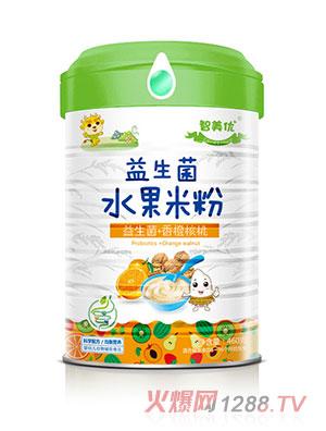 智美优益生菌+香橙核桃水果米粉