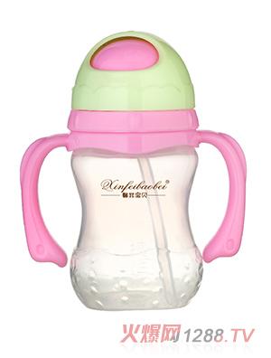 馨菲宝贝奶瓶红绿双色双柄
