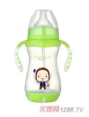 馨菲宝贝奶瓶双柄绿色