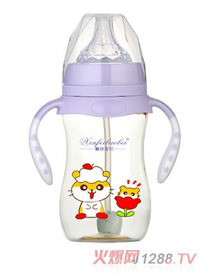 馨菲宝贝奶瓶双手柄紫色