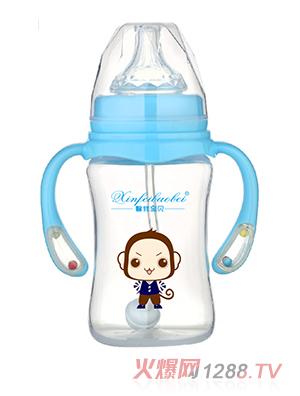 馨菲宝贝奶瓶响铃手柄蓝色