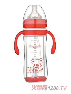 馨菲宝贝奶瓶直筒型红色