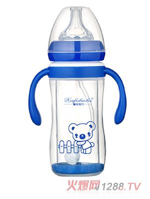 馨菲宝贝奶瓶直筒型蓝色